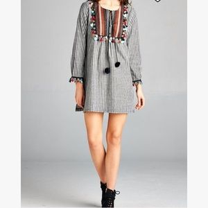 Velzera Pin Stripped Tunic/Dress